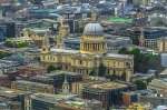 Aerial view of St Paul's cathedral