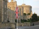 Windsor Castle with Union Jack flag
