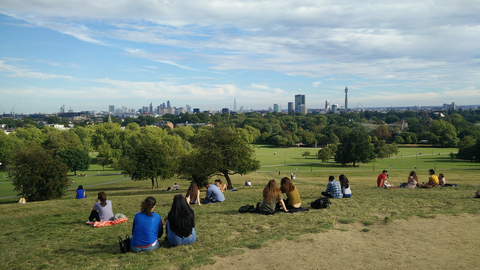 Primrose Hill with a view over London